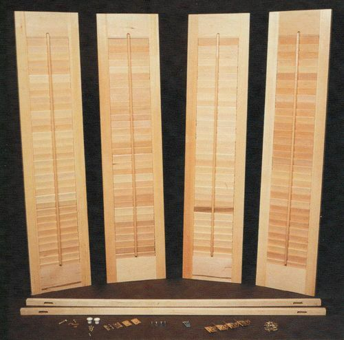 Basic wood diy interior shutter kits 24 w ebay - Plantation shutters kits ...
