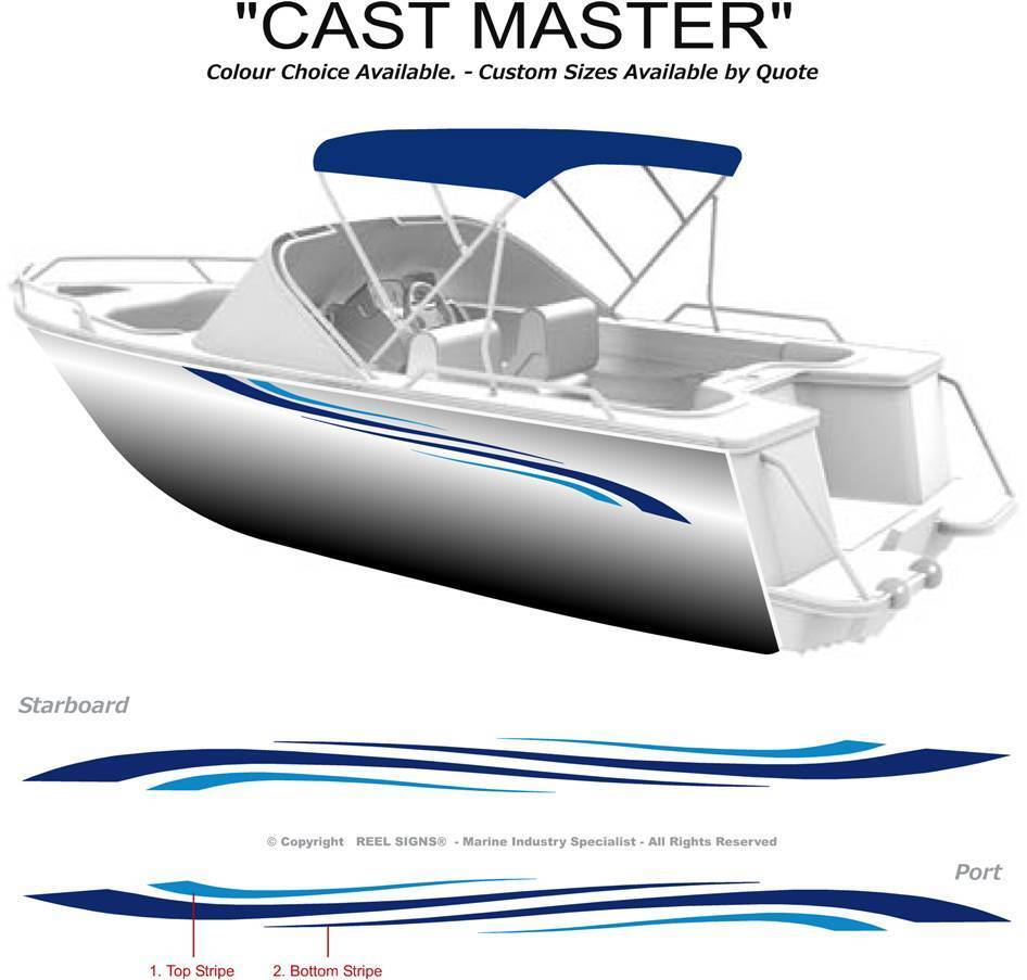 Boat Graphics Decal Sticker Kit Quot Cast Master 1800 Quot Marine