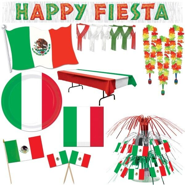 mexiko party dekoration mexikanische mottoparty fiesta mexicana mexico deko set ebay. Black Bedroom Furniture Sets. Home Design Ideas