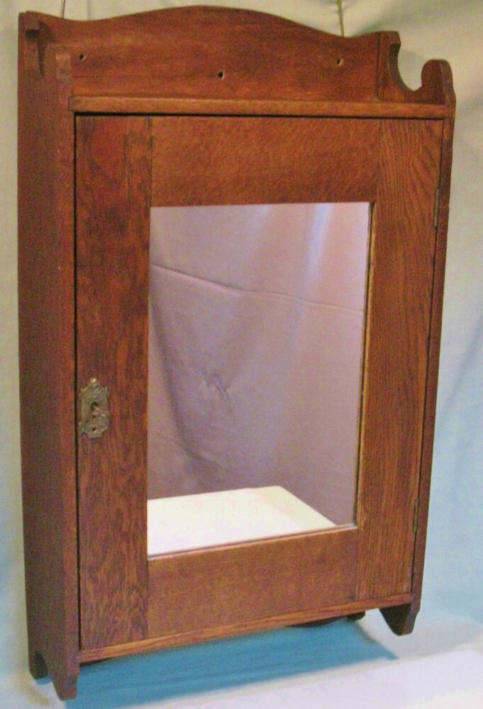 vintage medicine cabinet antique oak wall mount medicine cabinet mirror glass 27990