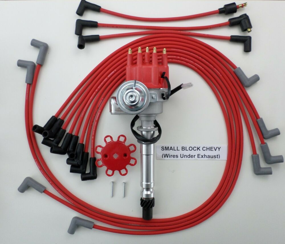 SMALL BLOCK CHEVY RED Small CAP HEI Distributor & SPARK