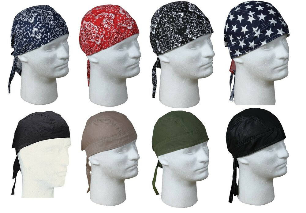 Cotton Fitted Bandana Do-Rags Biker Doo Rag