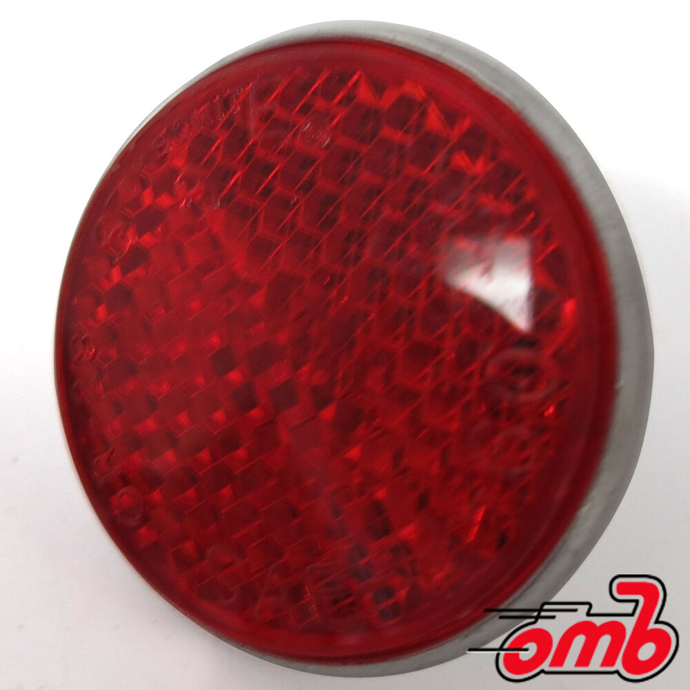 Motorcycle Fuel Shut Off Valve Red Round Screw in Reflector for Mini Bike Motorcycles Bikes ...