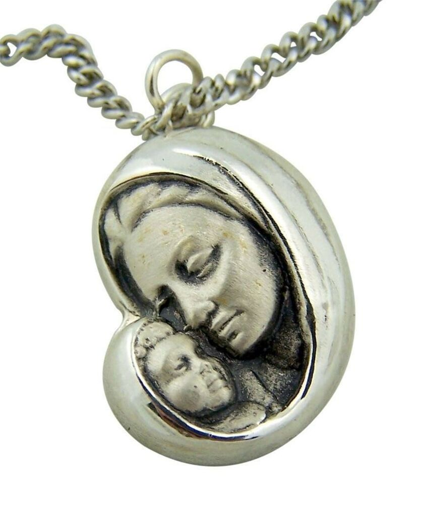 Fine jewelry creed 925 sterling silver 7 8 madonna with for What is fine jewelry