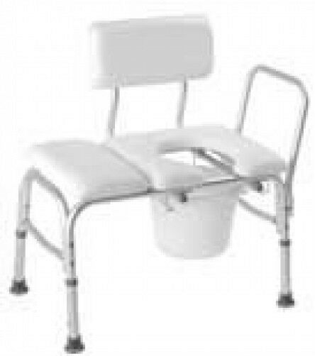 Deluxe Vinyl Padded Transfer Bench Cut Out Commode Pail