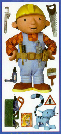 Bob the builder wall stickers mural 9 decals room decor 24 for Bob the builder wall mural