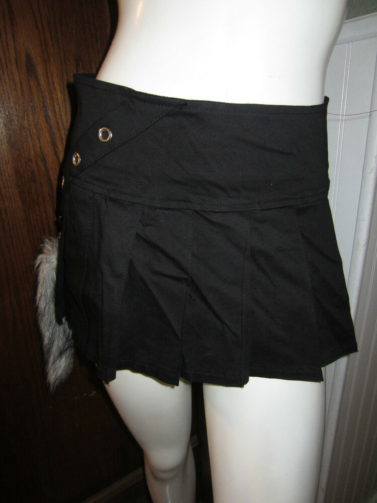 tripp pleated mini skirt with removabel gray