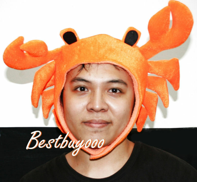 Crab seafood fish costume adult kids hat mask halloween for Fish costume for adults