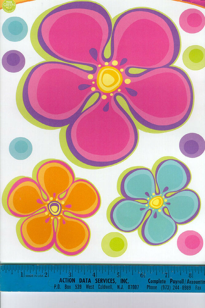 Flower Power And Dots Wall Stickers 23 Colorful Decals