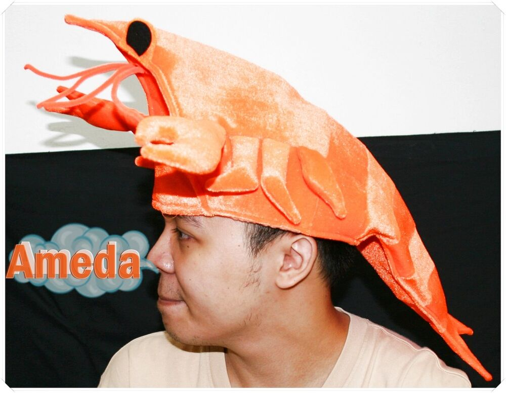 Lobster seafood fish party costume adult kids hat mask ebay for Fish costume for adults