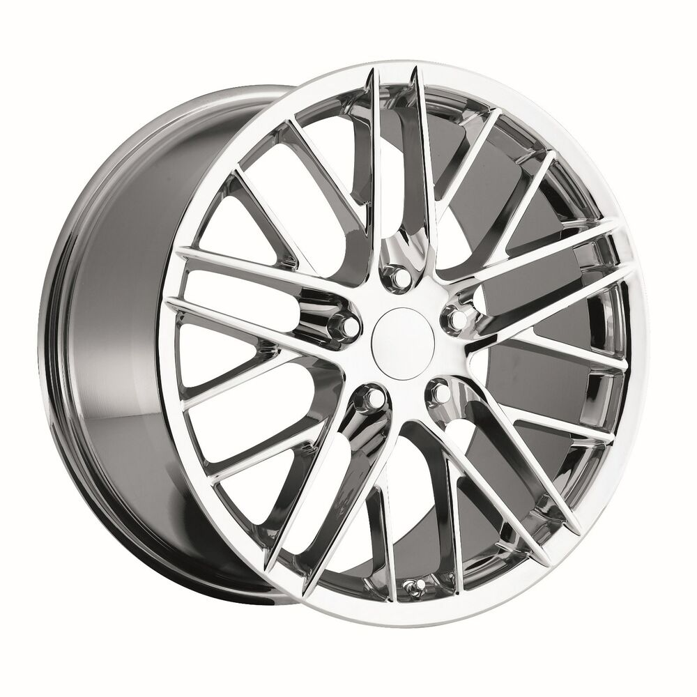 Corvette C6 Zr1 18x9 5 Chrome Wheels Rims For Fits Camaro