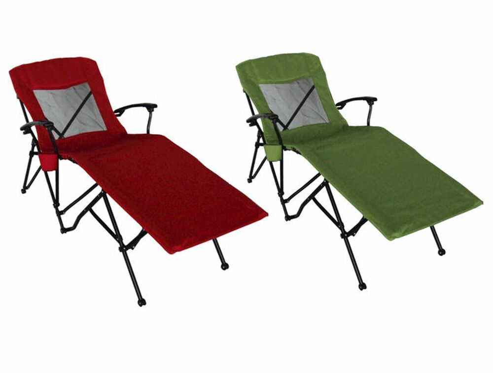 Guidesman Patio Pool Folding Portable Quad Lounger Chaise