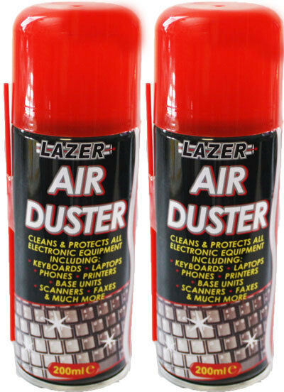 2 x compressed air spray can duster cleaner 200ml computer keyboards etc ebay. Black Bedroom Furniture Sets. Home Design Ideas