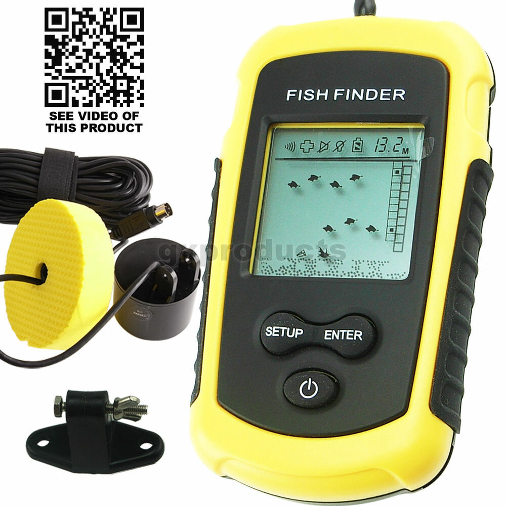 Portable sonar lcd fish finder fishfinder alarm 100m for Hummingbird fish finder parts