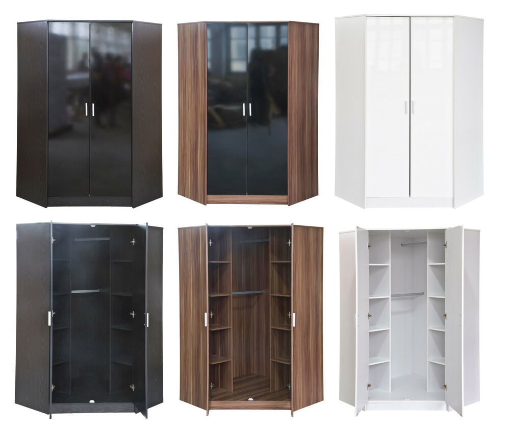 Khabat High Gloss Furniture 2 Door Corner Wardrobe 10