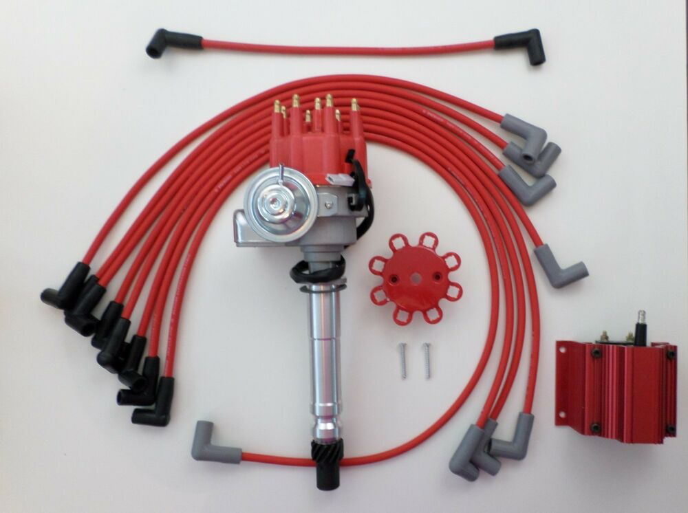 small block chevy red small hei distributor spark plug. Black Bedroom Furniture Sets. Home Design Ideas