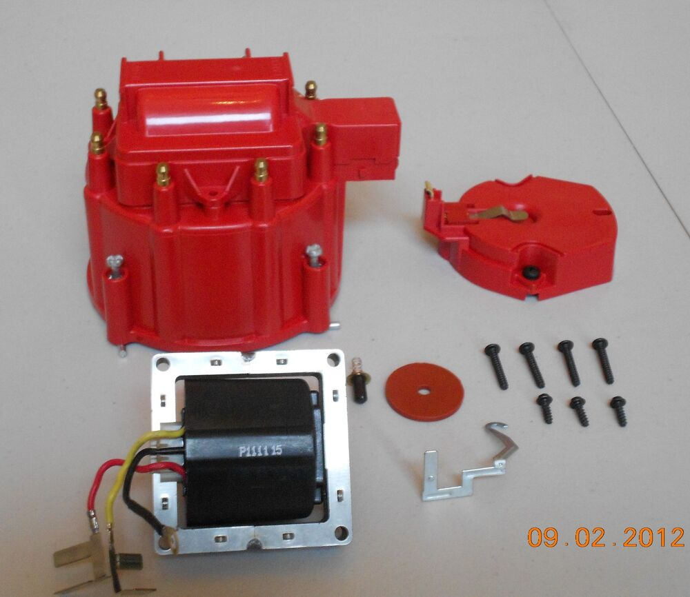 Red Hei Distributor Cap Coil Cover Amp Rotor Kit And 65 000