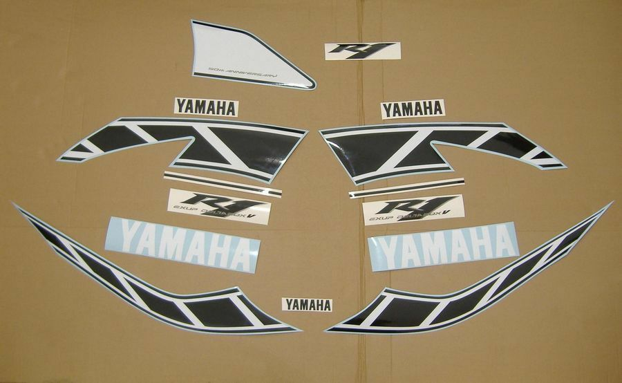 yzf r1 2006 50th anniversary decals stickers graphics set kit rn12 5vy pegatinas ebay. Black Bedroom Furniture Sets. Home Design Ideas
