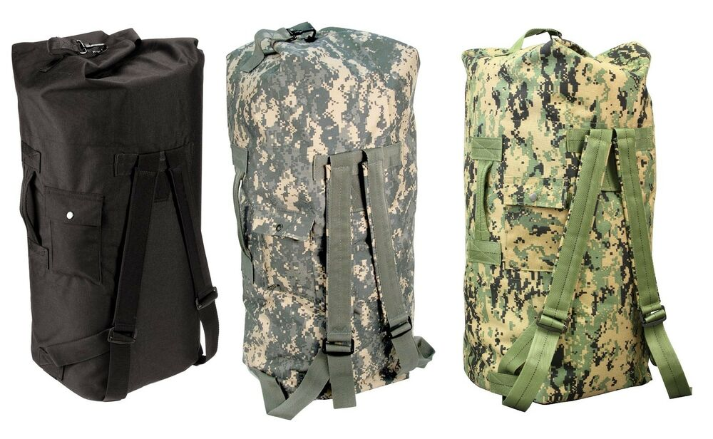 Enhanced Double Strap Duffle Bags Military Type Backpack