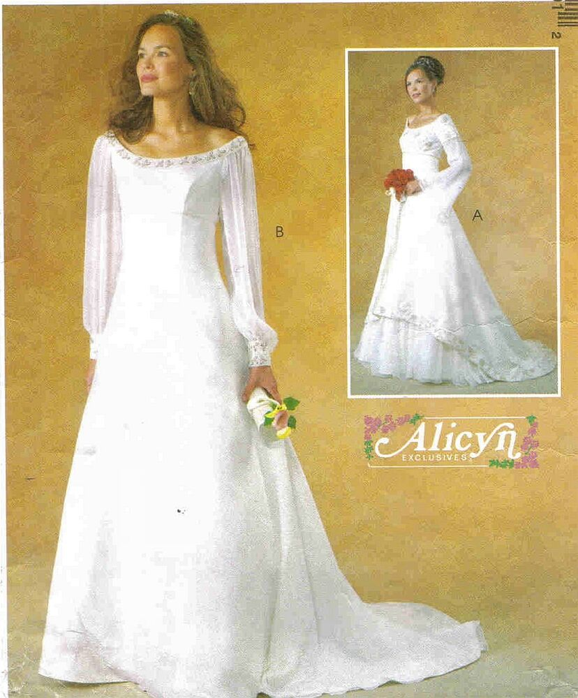 2003 alicyn exclusives wedding dress choice 8 22 pattern for Wedding dress patterns mccalls