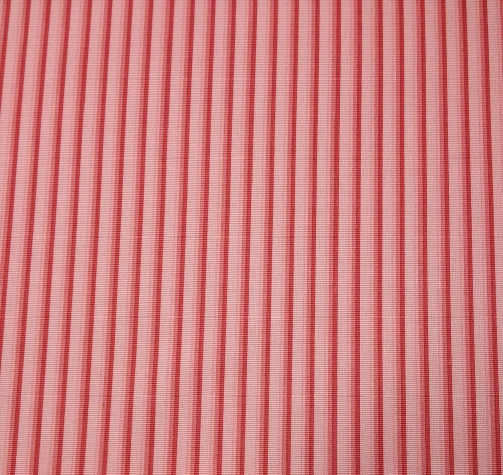 P kaufmann missy coral pink stripe furniture upholstery for By the yard furniture