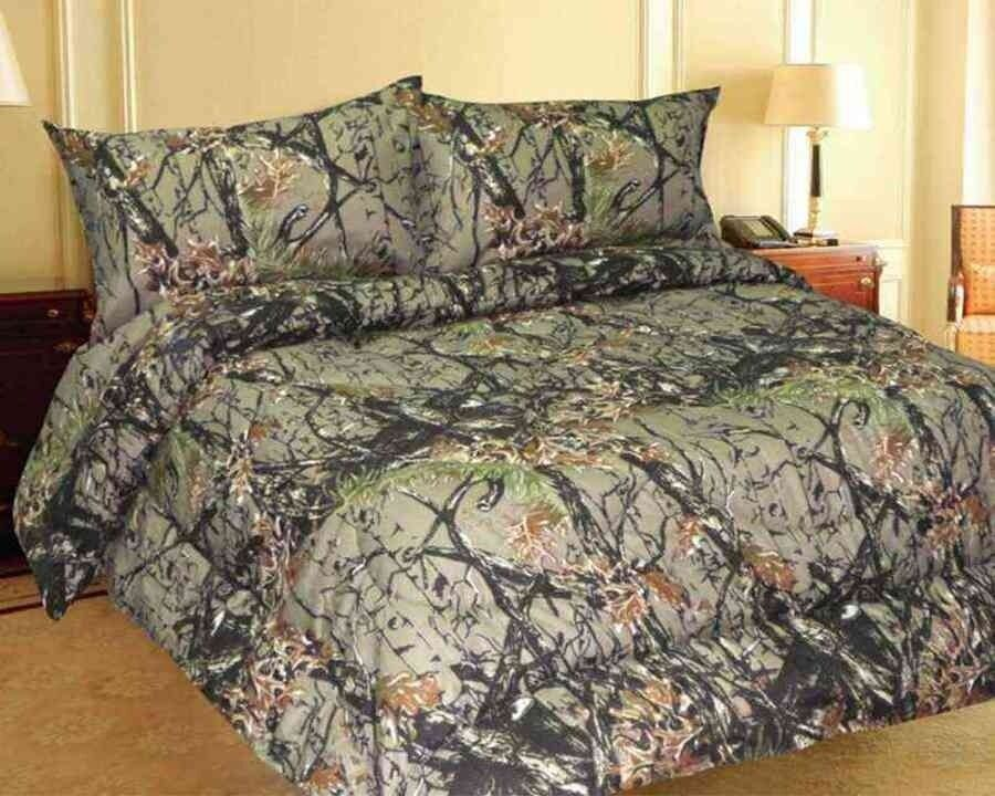 Green WOODLAND HUNTER CAMO Comforter All Sizes In Stock