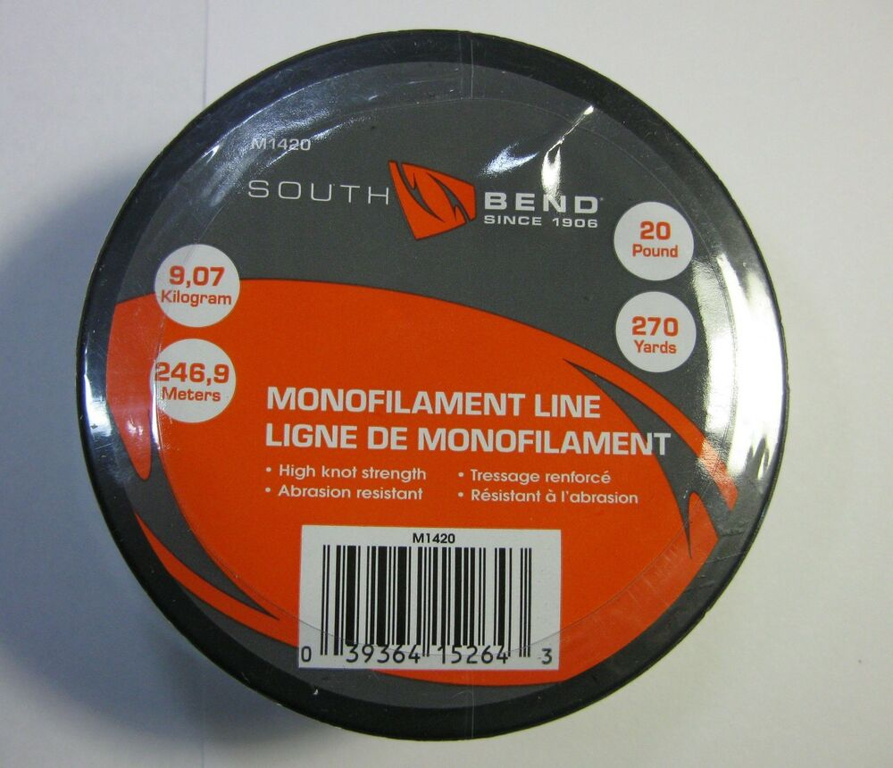 South bend sb m1420 monofilament fishing line 20 lb test for Fishing line test