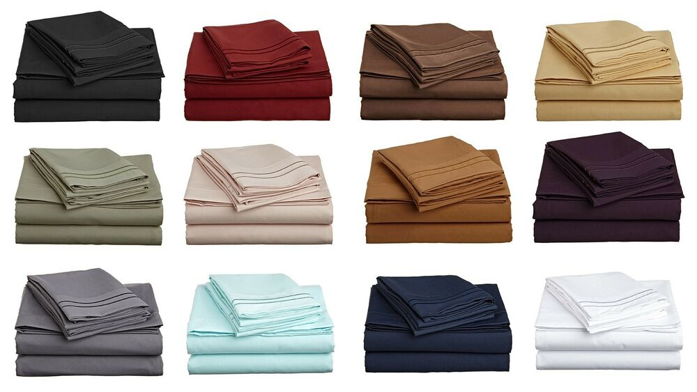 6 piece bed sheet set 1800 thread count egyptian comfort all colors sizes ebay. Black Bedroom Furniture Sets. Home Design Ideas