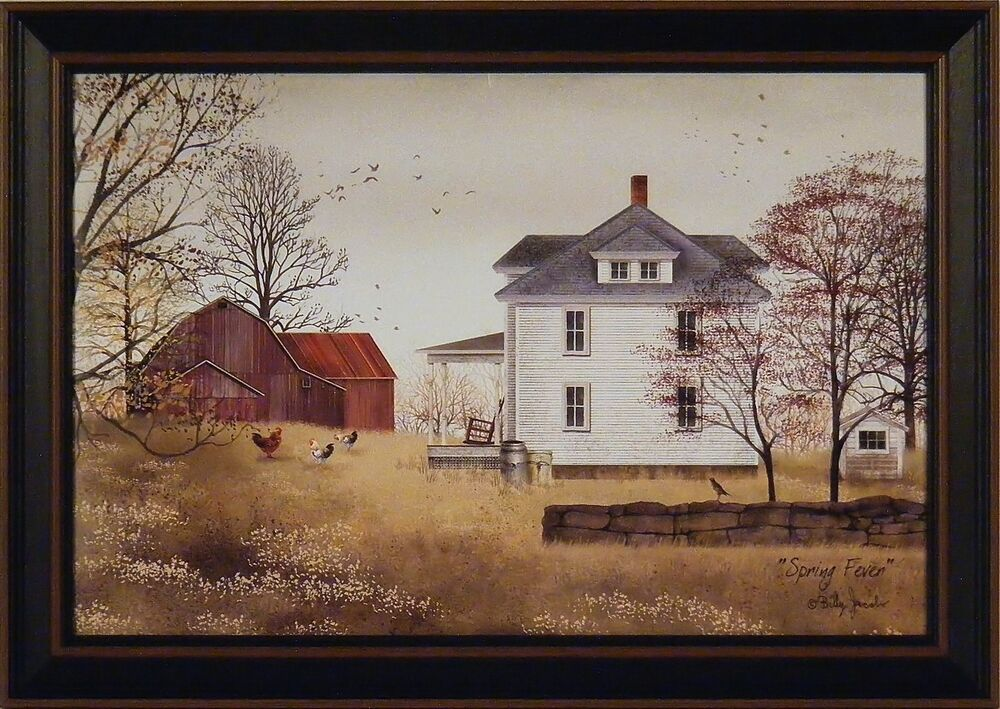 Spring Fever By Billy Jacobs 15x21 Framed Print Folk Art
