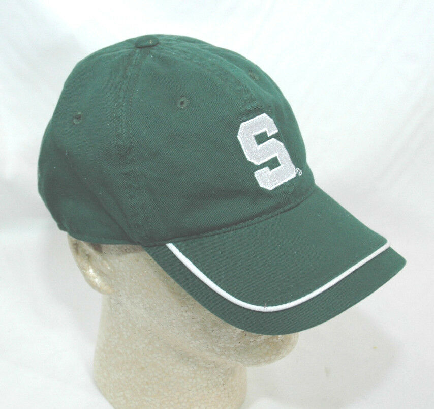 michigan state spartans baseball cap green with white trim