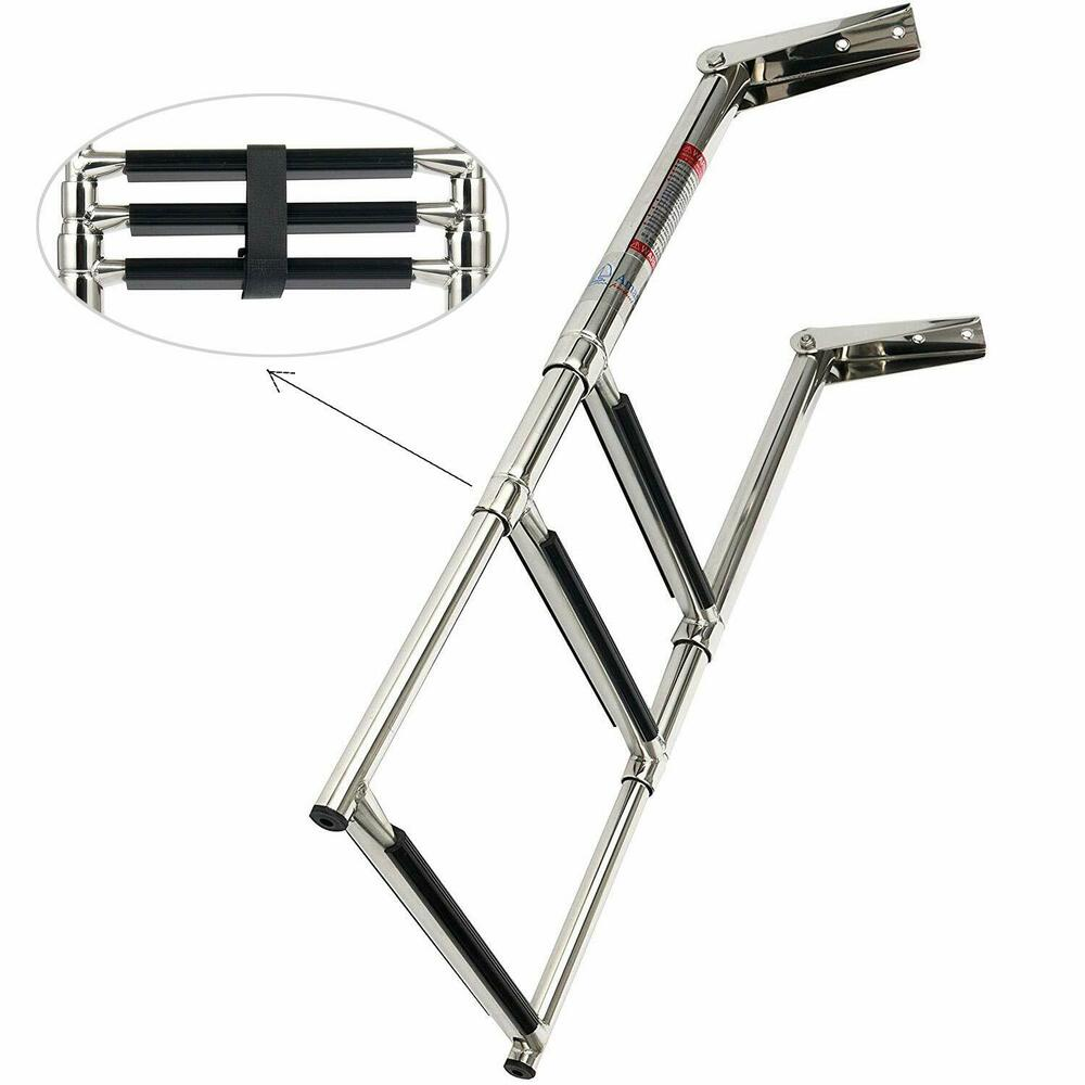 3 Step 304 Stainless Steel Foldable Telescoping Boat