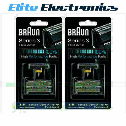 braun 31b 2 pack series 3 foil cutter replacement. Black Bedroom Furniture Sets. Home Design Ideas
