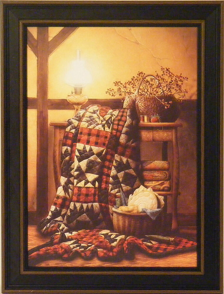 Grandma S Quilt By Doug Knutson 12x16 Framed Print Picture