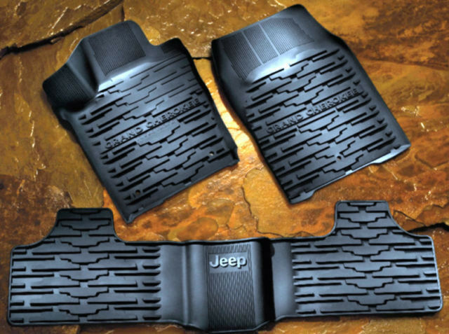 2013 2014 Jeep Grand Cherokee Rubber Slush Floor Mats