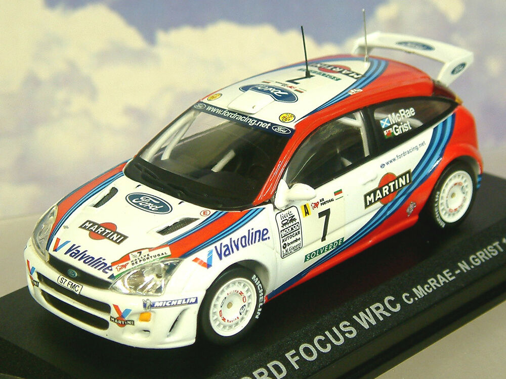 Diecast Racing Cars >> DIECAST 1/43 MARTINI FORD FOCUS WRC #7 WINNER PORTUGAL RALLY 1999 MCRAE & GRIST | eBay
