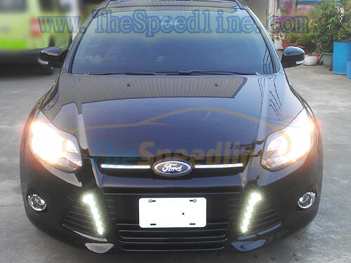 2011 2012 2013 2014 ford focus mk3 led drl daytime running. Black Bedroom Furniture Sets. Home Design Ideas