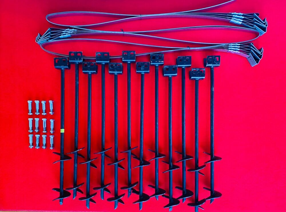 Mobile Home Parts Set Of 12 Auger Type Anchors Tie Down