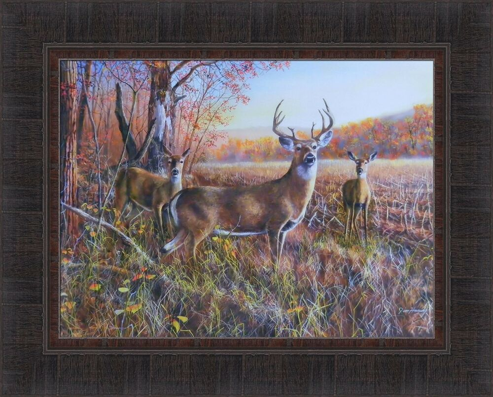 The Gathering By Jim Hansel 17x21 Framed Print Whitetail