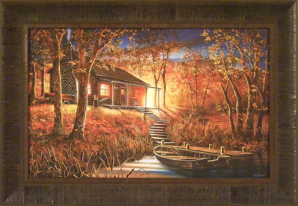 Dawn S Early Light By Jim Hansel 18x26 Framed Print Cabin
