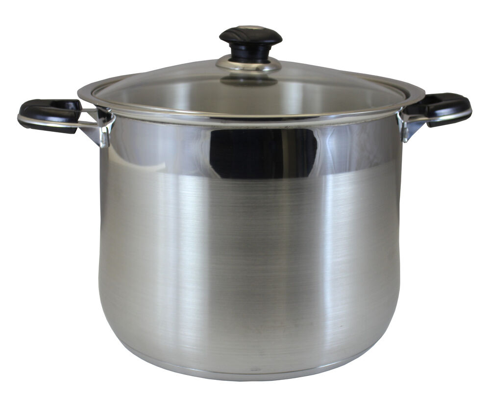 concord 10 qt stainless steel stock pot cookware tri ply bottom heavy duty ebay. Black Bedroom Furniture Sets. Home Design Ideas