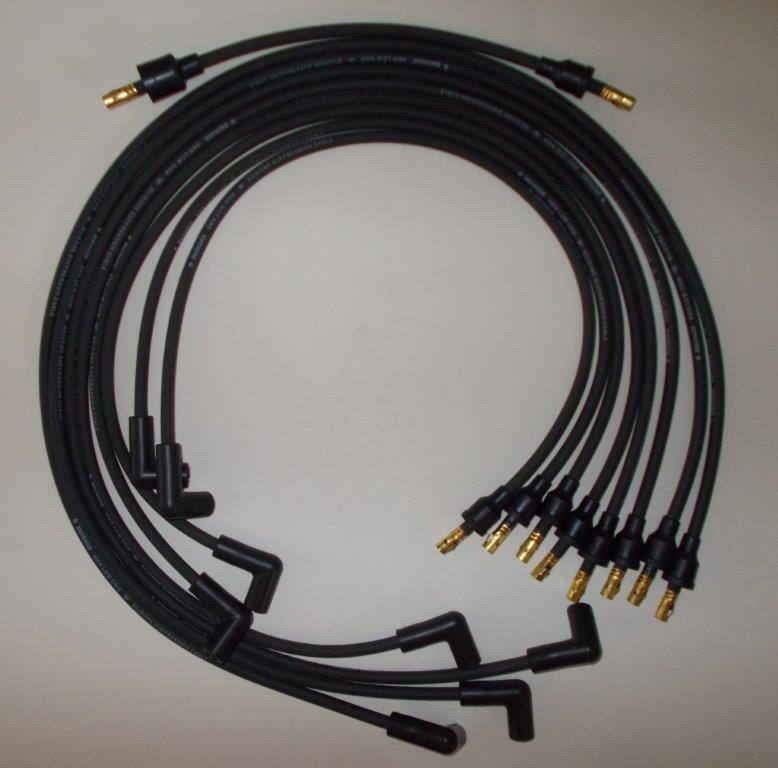 Small Block Chevy 55-74 265-400 BLACK Spark Plug Wires