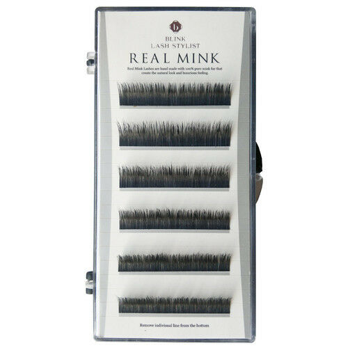 43794003db8 Details about LUXURY Individual BLINK Real Mink Lashes C curl Eyelash Black  Professional