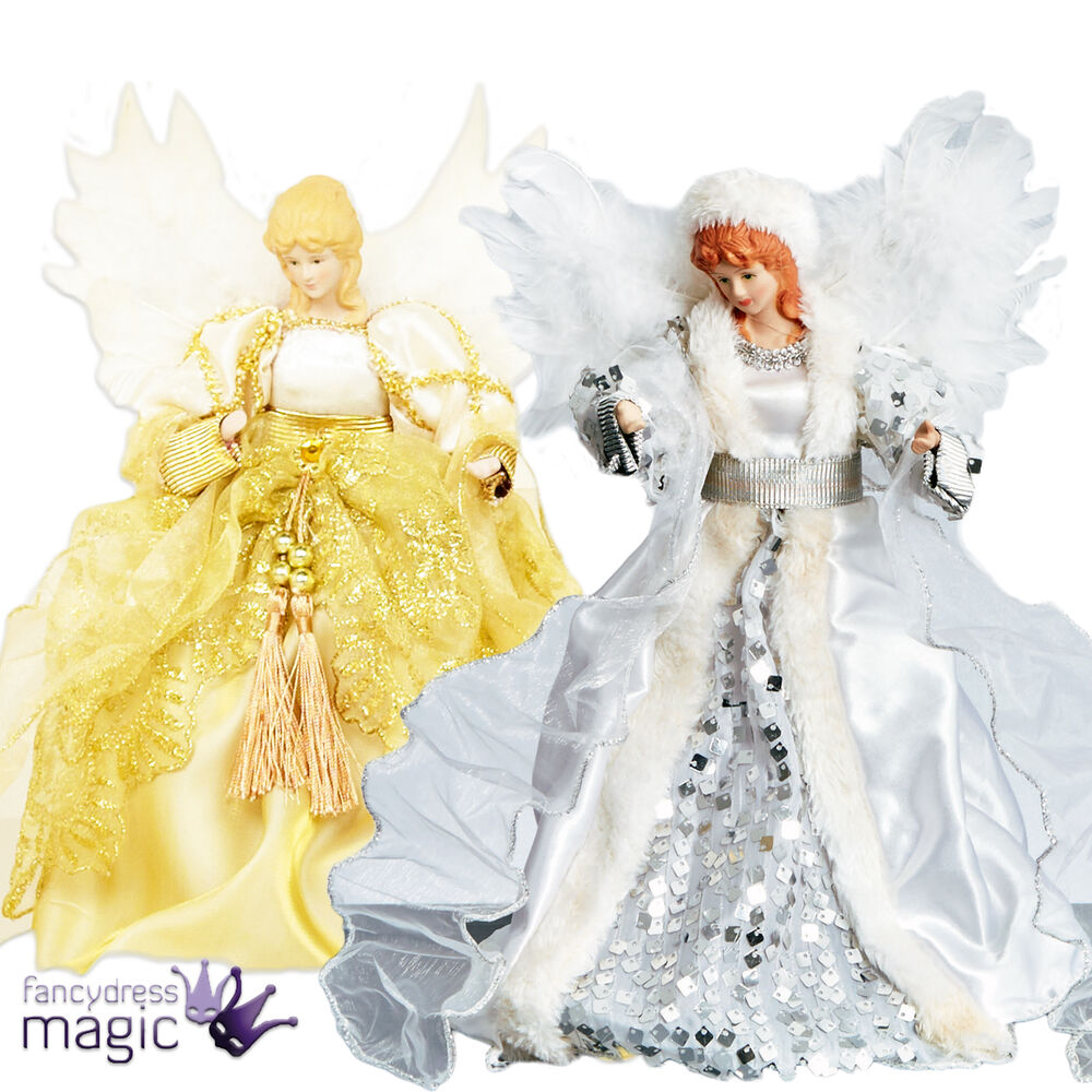 Deluxe Traditional Fairy Angel Christmas Xmas Tree Top
