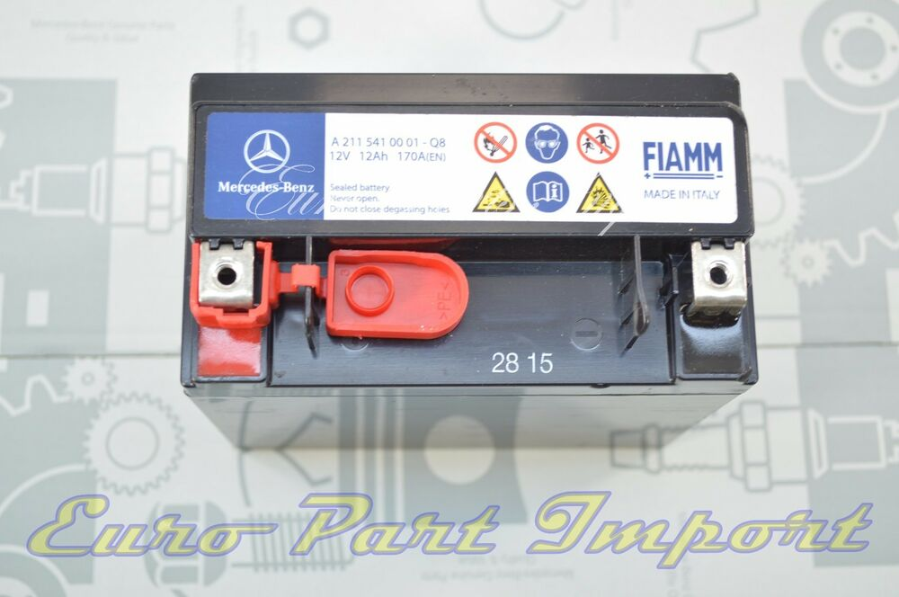 Mercedes benz secondary backup auxiliary battery genuine for Mercedes benz batteries