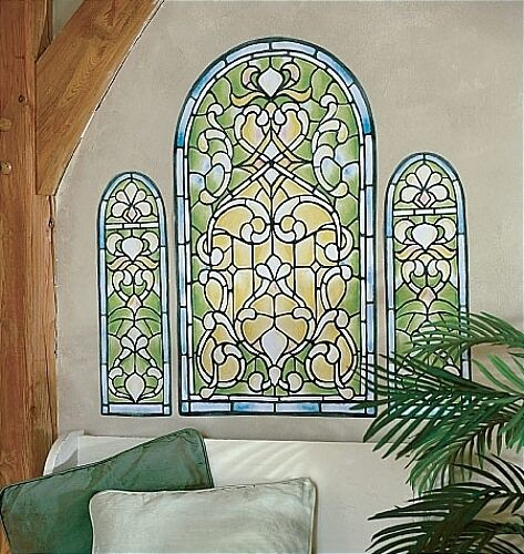 WALLIES STAINED GLASS WINDOW Wall Stickers MURAL 3