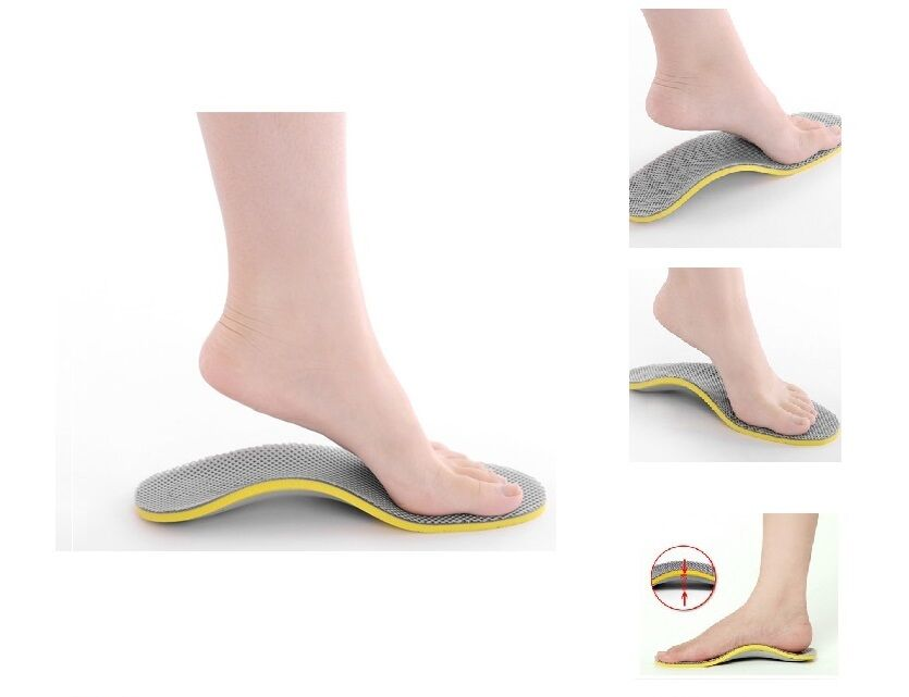 Footsoothers Breathable High Arch Support Shoe Insoles
