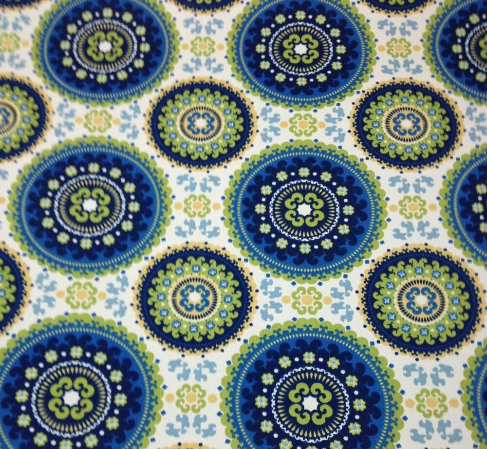 Richloom bindis summer blue suzani outdoor funriture for By the yard fabric