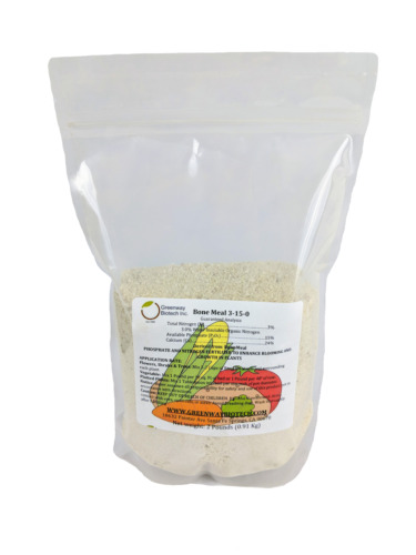 Bone Meal 3-15-0 Plus 24% Calcium Great for Blooms & Roots Growth 2 LB