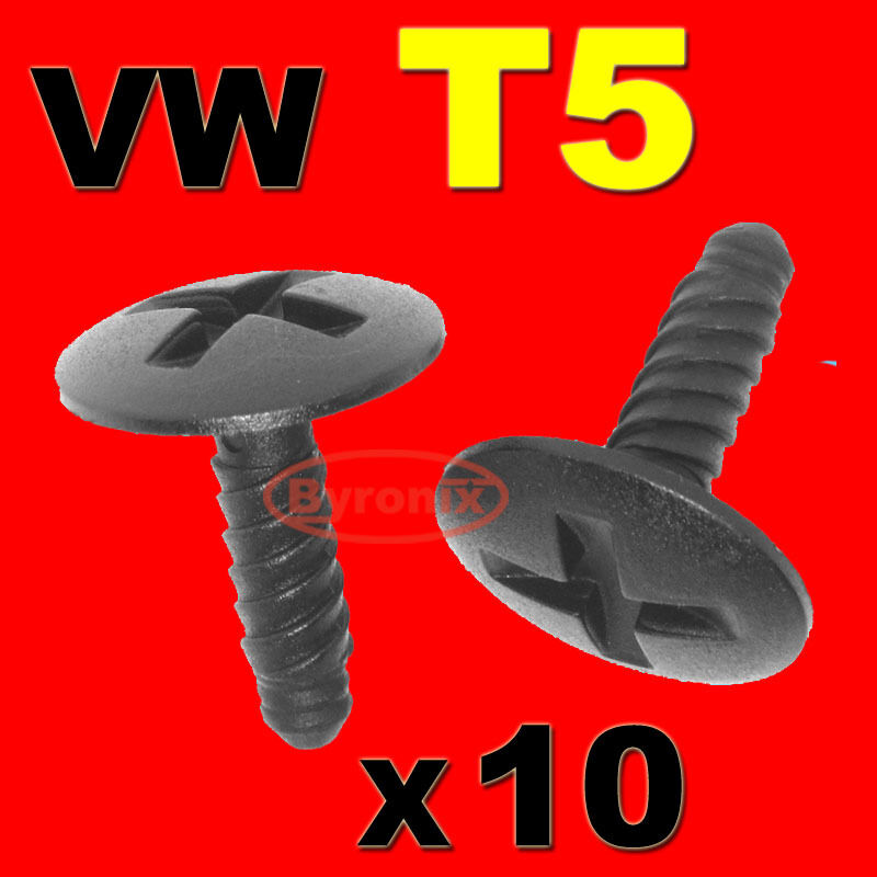 vw t5 engine headlight battery cover trim screw in clips. Black Bedroom Furniture Sets. Home Design Ideas