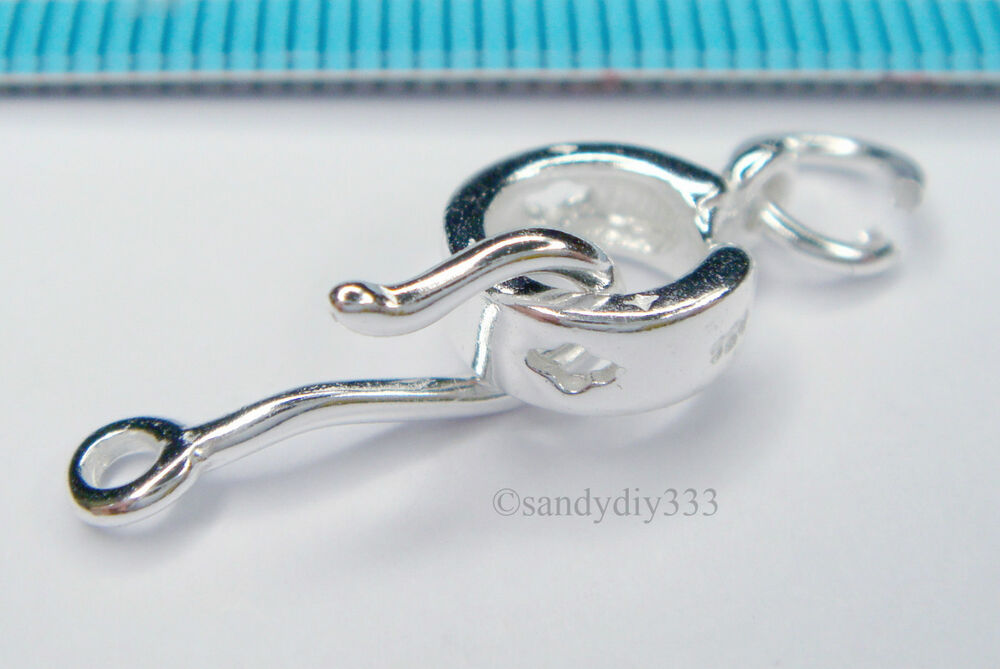 1x sterling silver bright fish eye s hook clasp 23mm j128 for Fish eye hook